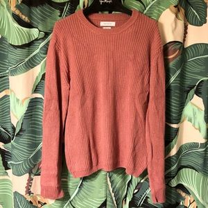 Urban Outfitters dusty rose knit sweater
